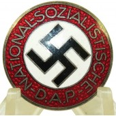 NSDAP party member lapel pin M1/72 RZM - Fritz Zimmermann, Stuttgart