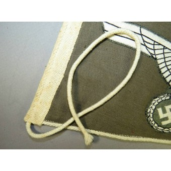 Wehrmacht Heer/Army Car Pennant with an eagle-Doublesided on grey cotton. Espenlaub militaria