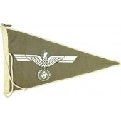 Wehrmacht Heer/Army Car Pennant with an eagle-Doublesided on grey cotton