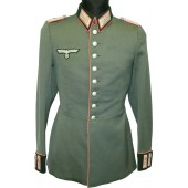 Wehrmacht  Parade Tunic Waffenrock for major of armored troops, belonged to  Friedrich Scheidemann