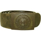 WW2 Wehrmacht Heer or Waffen SS combat belt and buckle.