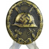 3rd Reich wound badge in black, 3rd class, 1939