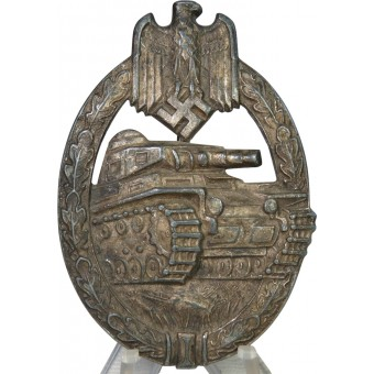 Tank Assault badge in silver, marked HA. Espenlaub militaria