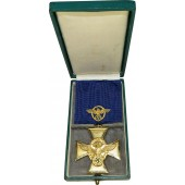 3rd Reich Police Long Service decoration, First class for 25 years