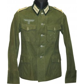 German officer summer tunic for Oberleutnant in Infantry for use at the Ostfront.