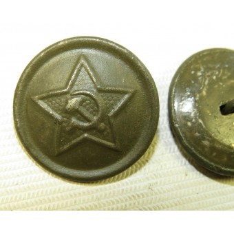 RKKA button for uniforms, steel made and painted in khaki, 21 mm. Espenlaub militaria