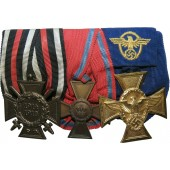 Medal bar for 3rd Reich police officials