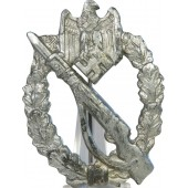 Unmarked Infantry assault badge in Silver