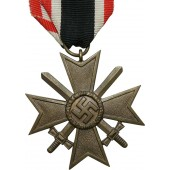 German War merit cross 1939 ( KVK), second class w/swords. Bronze