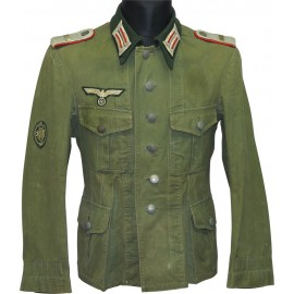 G.A.R 111 lieutenant tunic. Gebirgs Artillerie Regiment 111 salty lightweight officer's tunic