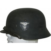 RAD M 35 ex Wehrmacht Heer double decal helmet