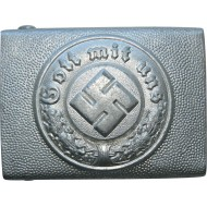 RS&S Combat police of 3rd Reich aluminum buckle.