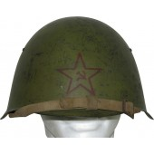 Ssch-39 Red Army helmet with frontal star dated 1939, size 2a, winter use