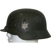 SE 66 double decal Wehrmacht Heer rough sawdust camo helmet