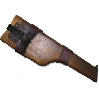 Wartime early WW1 C96 Mauser Broomhandle Shoulder Stock with an original leather holster