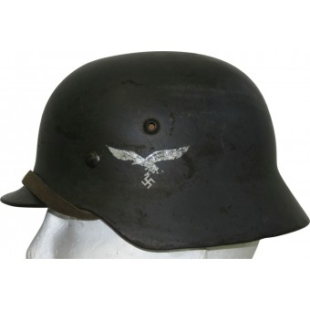 E.F 60 double decal Luftwaffe steel helmet in size 53