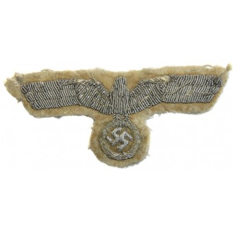 Hand embroidered bullion eagle for white summer officers tunic. Espenlaub militaria