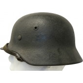 Luftwaffe steel helmet ET62 Lot No. 846. Sawdust two shades camo.