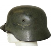 Luftwaffe steel helmet M40 SE 64/334. Camouflage in shades of green colors