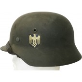 Wehrmacht Heer NS64, lot No. D138 single decal helmet