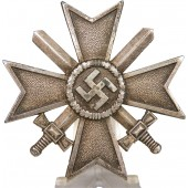 WW2 German War Merit Cross with swords, 1st class.  KVK1,  L15