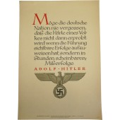 N.S.D.A.P poster with weekly quotes from speeches of the 3rd Reich leaders, 1942