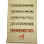 Poster: Bolshevism is not a party, it is not an ideology, it is an organized crime