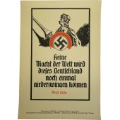 Propaganda poster for N.S.D.A.P with weekly quotes from 3rd Reich leaders speech