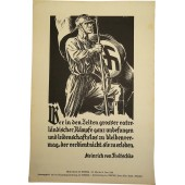 Weekly NSDAP poster with propaganda quotes-mottos, 1939.