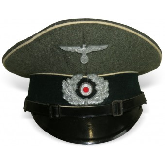 Wehrmacht Heer infantry visor hat for low ranks. Espenlaub militaria