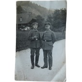 WW1 photo of two German soldiers