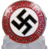 Early NSDAP member badge by Otto Shickle. GES.GESCH