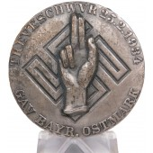 NSDAP meeting badge 1934 for the Ostmark area