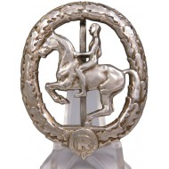 Silver grade of the rider badge of the 3rd Reich. Christian Lauer
