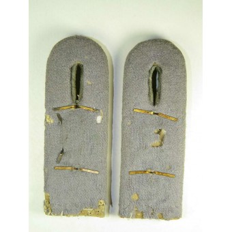 Pair of Wehrmacht Heeres artillery reservist shoulder boards in the rank of Oberleutnant, 52 art. reg. Espenlaub militaria