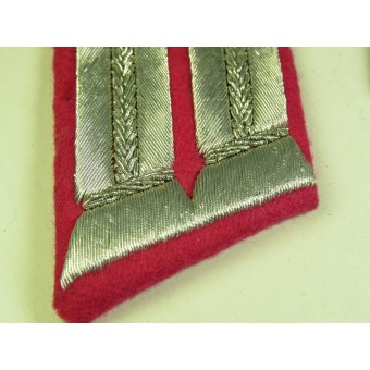 Wehrmacht Heeres veterinary officers collar tabs for parade or walkout uniform. Mint. Espenlaub militaria