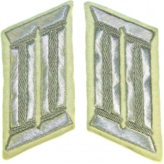 Wehrmacht Heeres white infantry officers collar tabs for parade or walkout uniform. Espenlaub militaria