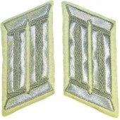 Wehrmacht Heeres white infantry officers collar tabs for parade or walkout uniform