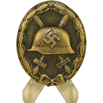 3rd Reich Wound badge in black. L/11- W. Deumer. Espenlaub militaria