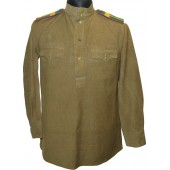 M 43 Gymnasterka for Starchina of Border guard of NKVD. Lend lease wool