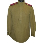 M 43 Red Army gymnasterka for enlisted personnel in rank of Infantry Efreytor with everyday shoulder boards