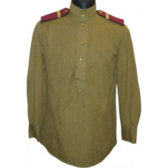 M 43 Red Army gymnasterka for enlisted personnel in rank of Infantry Efreytor with everyday shoulder boards. Espenlaub militaria