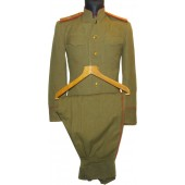 Major of artillery M43 set of  tunic and trousers, USA made wool