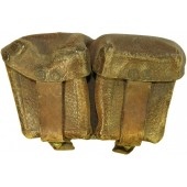Mosin leather ammo pouch, pre-war made.