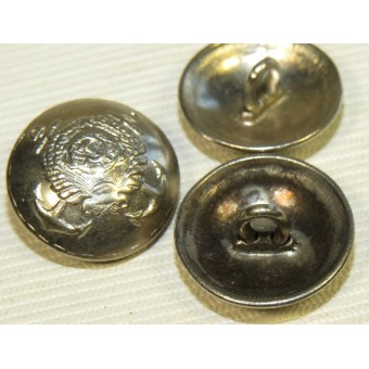Navy Admirals/Generals of medical and engineering service M 36 buttons -18 mm. Espenlaub militaria