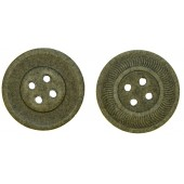 Paper buttons, Feldgrau- 20 mm. 3rd Reich Wehrmacht Heer, Lufftwaffe, Waffen SS, RAD and other services.