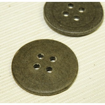 Paper/cardboard buttons, Feldgrau - 23 mm. Wehrmacht Heer, Lufftwaffe and other military services. Espenlaub militaria