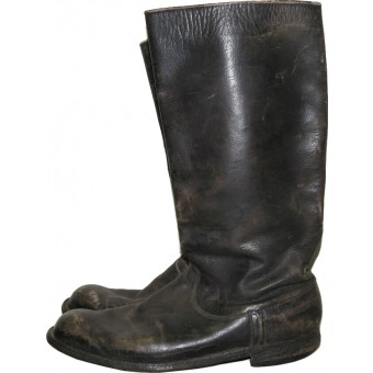 Red Army enlisted men, NCO or command crew pre-WW2 made leather long boots. Espenlaub militaria