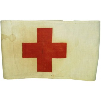 Red cross armband for a medical personnel of RKKA. Espenlaub militaria