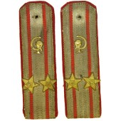Soviet Navy M 43 podpolkovnik of medical service shoulder boards.